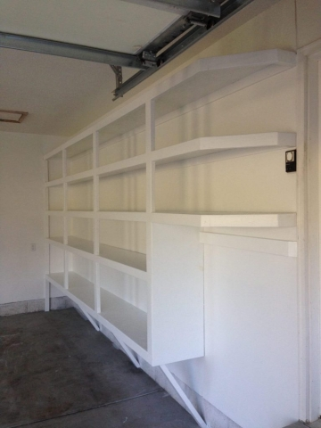 New Garage Shelfs Installation Handyman